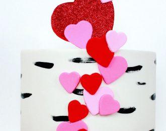 Valentine Fondant Cake
